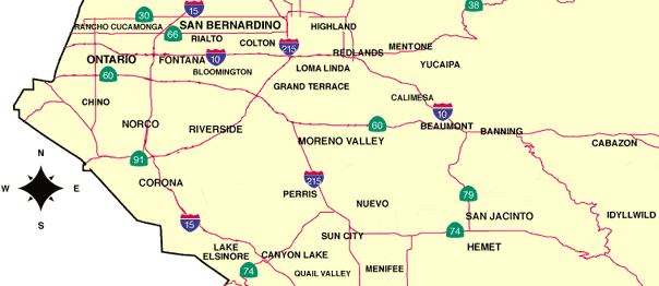 Inland Empire Map